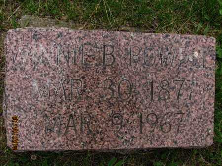 POWELL, WINNIE B. - Saline County, Nebraska | WINNIE B. POWELL - Nebraska Gravestone Photos
