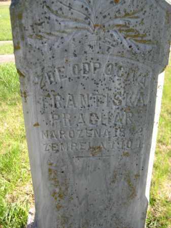 PRACHAR, FRANTISKA - Saline County, Nebraska   FRANTISKA PRACHAR - Nebraska Gravestone Photos