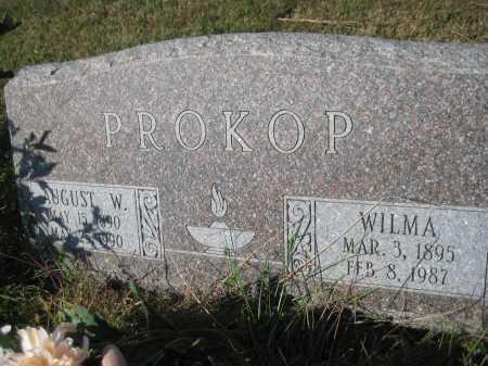 PROKOP, AUGUST W. - Saline County, Nebraska | AUGUST W. PROKOP - Nebraska Gravestone Photos