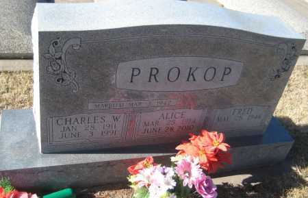 PROKOP, FRED - Saline County, Nebraska | FRED PROKOP - Nebraska Gravestone Photos