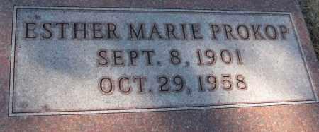 PROKOP, ESTHER MARIE - Saline County, Nebraska   ESTHER MARIE PROKOP - Nebraska Gravestone Photos