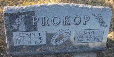 PROKOP, EDWIN J. - Saline County, Nebraska | EDWIN J. PROKOP - Nebraska Gravestone Photos