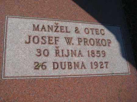 PROKOP, JOSEF W. - Saline County, Nebraska   JOSEF W. PROKOP - Nebraska Gravestone Photos
