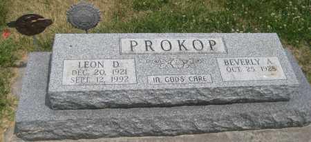 PROKOP, LEON D. - Saline County, Nebraska   LEON D. PROKOP - Nebraska Gravestone Photos