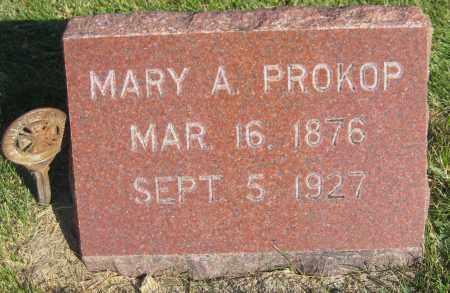 PROKOP, MARY A. - Saline County, Nebraska | MARY A. PROKOP - Nebraska Gravestone Photos