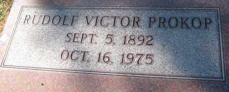 PROKOP, RUDOLF VICTOR - Saline County, Nebraska | RUDOLF VICTOR PROKOP - Nebraska Gravestone Photos