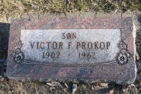 PROKOP, VICTOR F. - Saline County, Nebraska | VICTOR F. PROKOP - Nebraska Gravestone Photos