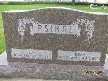 PSIKAL, JULIA - Saline County, Nebraska | JULIA PSIKAL - Nebraska Gravestone Photos