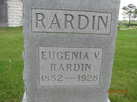 CREAGER RARDIN, EUGENIA VIRGINIA - Saline County, Nebraska | EUGENIA VIRGINIA CREAGER RARDIN - Nebraska Gravestone Photos