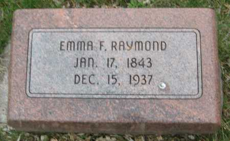 RAYMOND, EMMA F. - Saline County, Nebraska | EMMA F. RAYMOND - Nebraska Gravestone Photos
