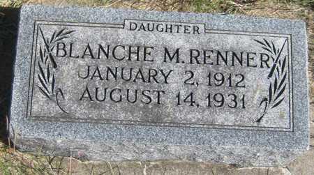 RENNER, BLANCHE M. - Saline County, Nebraska | BLANCHE M. RENNER - Nebraska Gravestone Photos