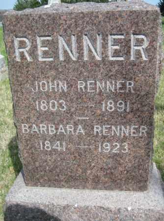 RENNER, JOHN - Saline County, Nebraska   JOHN RENNER - Nebraska Gravestone Photos