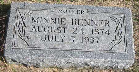 RENNER, MINNIE - Saline County, Nebraska   MINNIE RENNER - Nebraska Gravestone Photos