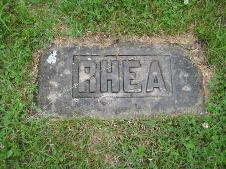 RHEA, LOT MARKER - Saline County, Nebraska | LOT MARKER RHEA - Nebraska Gravestone Photos