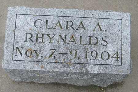 RHYNALDS, CLARA A. - Saline County, Nebraska | CLARA A. RHYNALDS - Nebraska Gravestone Photos
