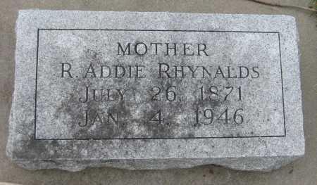 RHYNALDS, R. ADDIE - Saline County, Nebraska | R. ADDIE RHYNALDS - Nebraska Gravestone Photos