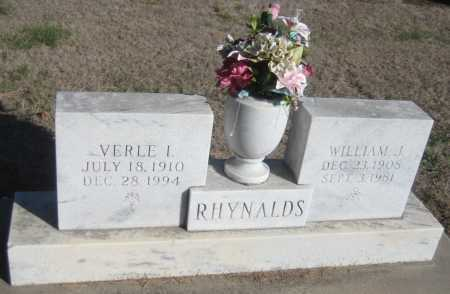 RHYNALDS, VERLE L. - Saline County, Nebraska | VERLE L. RHYNALDS - Nebraska Gravestone Photos