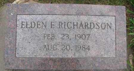 RICHARDSON, ELDEN FAYE - Saline County, Nebraska | ELDEN FAYE RICHARDSON - Nebraska Gravestone Photos