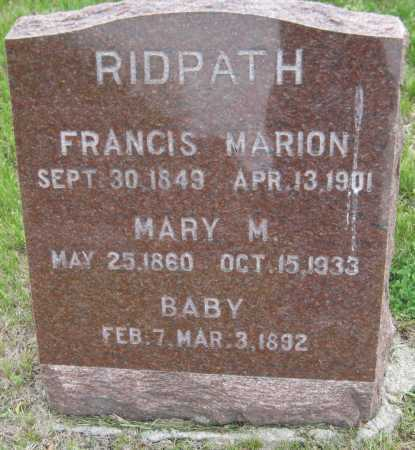 RIDPATH, BABY - Saline County, Nebraska | BABY RIDPATH - Nebraska Gravestone Photos