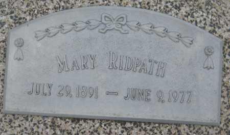 RIDPATH, MARY - Saline County, Nebraska | MARY RIDPATH - Nebraska Gravestone Photos