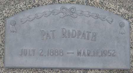 RIDPATH, PAT - Saline County, Nebraska   PAT RIDPATH - Nebraska Gravestone Photos
