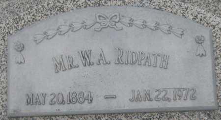 RIDPATH, W. A. - Saline County, Nebraska | W. A. RIDPATH - Nebraska Gravestone Photos