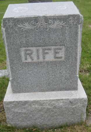 RIFE, FAMILY MONUMENT - Saline County, Nebraska   FAMILY MONUMENT RIFE - Nebraska Gravestone Photos