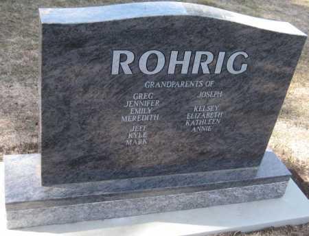ROHRIG, MARILYN - Saline County, Nebraska | MARILYN ROHRIG - Nebraska Gravestone Photos