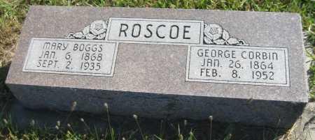 ROSCOE, GEORGE CORBIN - Saline County, Nebraska | GEORGE CORBIN ROSCOE - Nebraska Gravestone Photos