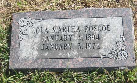 ROSCOE, ZOLA MARTHA - Saline County, Nebraska | ZOLA MARTHA ROSCOE - Nebraska Gravestone Photos