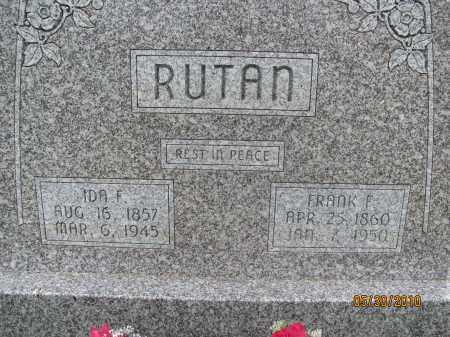 RUTAN, FRANK F. - Saline County, Nebraska | FRANK F. RUTAN - Nebraska Gravestone Photos