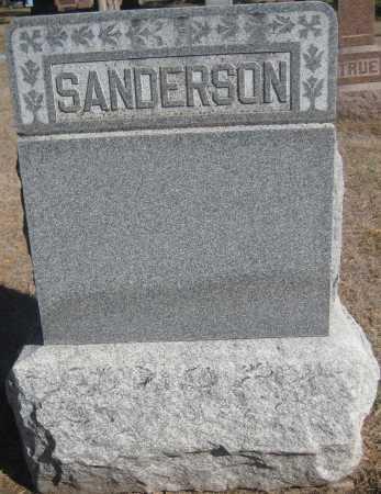 SANDERSON, FAMILY MONUMENT - Saline County, Nebraska | FAMILY MONUMENT SANDERSON - Nebraska Gravestone Photos