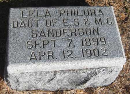 SANDERSON, LELA PHILURA - Saline County, Nebraska | LELA PHILURA SANDERSON - Nebraska Gravestone Photos