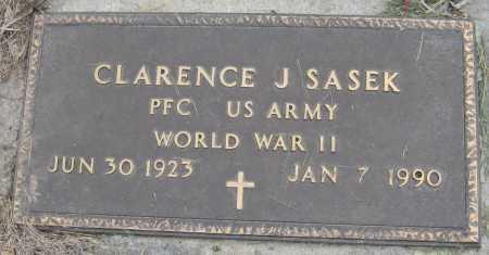 SASEK, CLARENCE JAMES - Saline County, Nebraska | CLARENCE JAMES SASEK - Nebraska Gravestone Photos