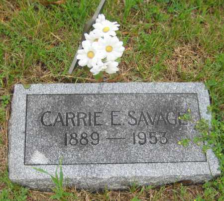 SAVAGE, CARRIE E. - Saline County, Nebraska | CARRIE E. SAVAGE - Nebraska Gravestone Photos
