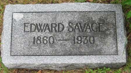 SAVAGE, EDWARD - Saline County, Nebraska | EDWARD SAVAGE - Nebraska Gravestone Photos