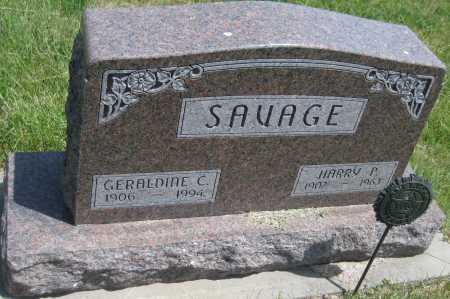 SAVAGE, GERALDINE C. - Saline County, Nebraska | GERALDINE C. SAVAGE - Nebraska Gravestone Photos