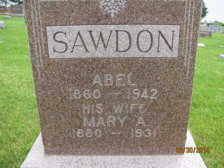 SAWDON, ABEL - Saline County, Nebraska | ABEL SAWDON - Nebraska Gravestone Photos