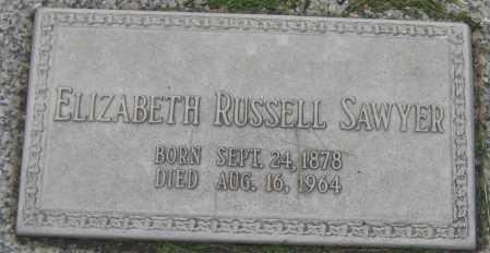 SAWYER, ELIZABETH - Saline County, Nebraska | ELIZABETH SAWYER - Nebraska Gravestone Photos
