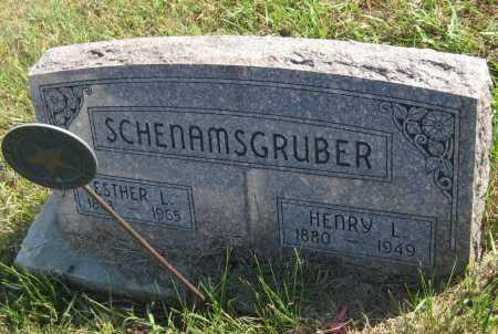 SCHENAMSGRUBER, HENRY L. - Saline County, Nebraska | HENRY L. SCHENAMSGRUBER - Nebraska Gravestone Photos