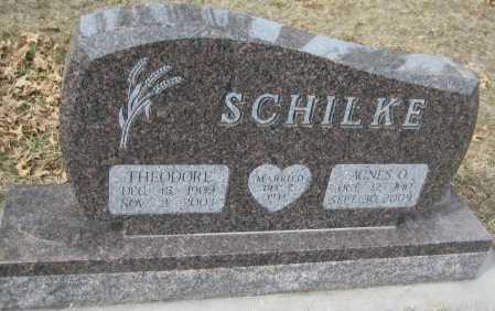 ZENSIEK SCHILKE, AGNES OLGA - Saline County, Nebraska | AGNES OLGA ZENSIEK SCHILKE - Nebraska Gravestone Photos