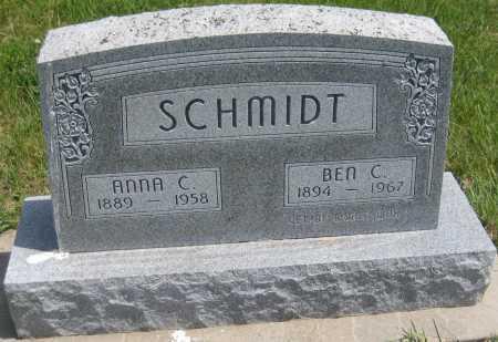 SCHMIDT, ANNA C. - Saline County, Nebraska | ANNA C. SCHMIDT - Nebraska Gravestone Photos