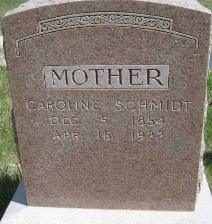 SCHMIDT, CAROLINE - Saline County, Nebraska | CAROLINE SCHMIDT - Nebraska Gravestone Photos