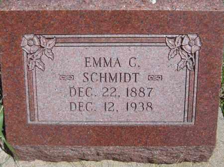 SCHMIDT, EMMA C. - Saline County, Nebraska   EMMA C. SCHMIDT - Nebraska Gravestone Photos