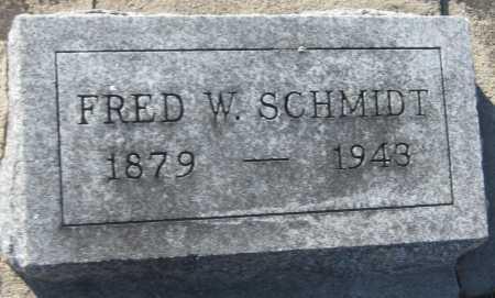 SCHMIDT, FRED W. - Saline County, Nebraska | FRED W. SCHMIDT - Nebraska Gravestone Photos