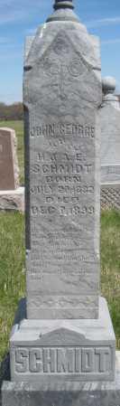 SCHMIDT, JOHN GEORGE - Saline County, Nebraska | JOHN GEORGE SCHMIDT - Nebraska Gravestone Photos