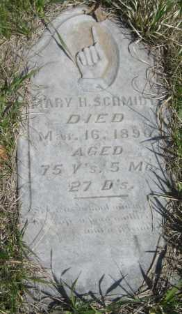 SCHMIDT, MARY H. - Saline County, Nebraska | MARY H. SCHMIDT - Nebraska Gravestone Photos