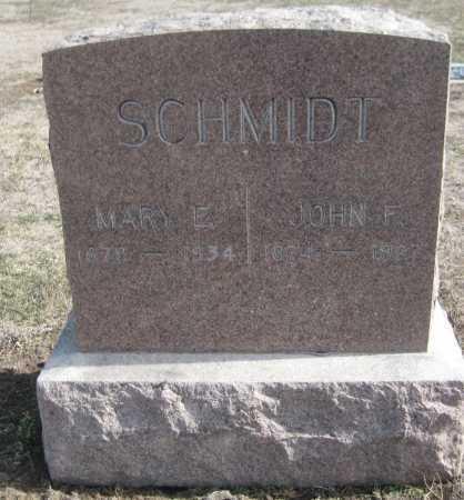SCHMIDT, MARY E. - Saline County, Nebraska   MARY E. SCHMIDT - Nebraska Gravestone Photos