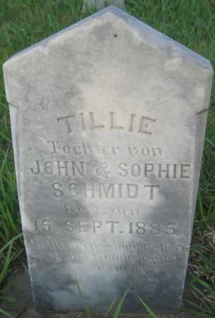 SCHMIDT, TILLIE - Saline County, Nebraska   TILLIE SCHMIDT - Nebraska Gravestone Photos