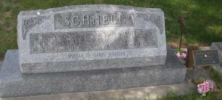 SCHNELL, WERNER F. - Saline County, Nebraska | WERNER F. SCHNELL - Nebraska Gravestone Photos